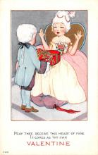 val200365 - Valentines Day Post Card Old Vintage Antique Postcard