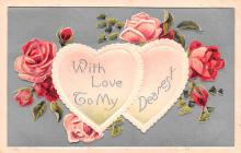 val200371 - Valentines Day Post Card Old Vintage Antique Postcard