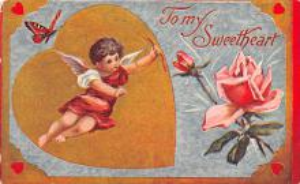 val200375 - Valentines Day Post Card Old Vintage Antique Postcard