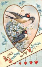 val200377 - Valentines Day Post Card Old Vintage Antique Postcard