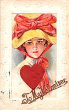 val200381 - Valentines Day Post Card Old Vintage Antique Postcard
