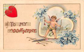 val200383 - Valentines Day Post Card Old Vintage Antique Postcard