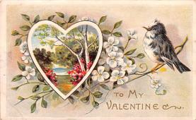 val200387 - Valentines Day Post Card Old Vintage Antique Postcard