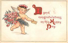 val200389 - Valentines Day Post Card Old Vintage Antique Postcard