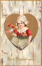 val200393 - Valentines Day Post Card Old Vintage Antique Postcard
