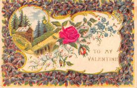 val200397 - Valentines Day Post Card Old Vintage Antique Postcard