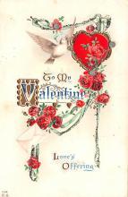 val200401 - Valentines Day Post Card Old Vintage Antique Postcard