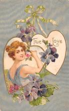 val200407 - Valentines Day Post Card Old Vintage Antique Postcard