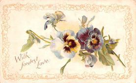 val200409 - Valentines Day Post Card Old Vintage Antique Postcard