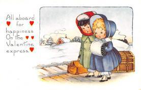 val200413 - Valentines Day Post Card Old Vintage Antique Postcard