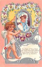 val200415 - Valentines Day Post Card Old Vintage Antique Postcard