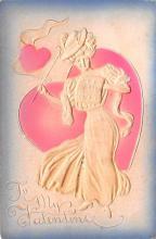 val200421 - Valentines Day Post Card Old Vintage Antique Postcard