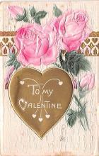 val200423 - Valentines Day Post Card Old Vintage Antique Postcard