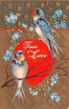 val200425 - Valentines Day Post Card Old Vintage Antique Postcard