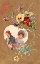 val200427 - Valentines Day Post Card Old Vintage Antique Postcard