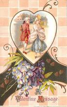 val200429 - Valentines Day Post Card Old Vintage Antique Postcard