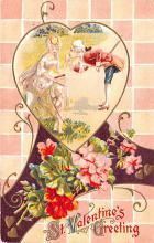 val200431 - Valentines Day Post Card Old Vintage Antique Postcard