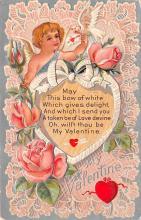 val200433 - Valentines Day Post Card Old Vintage Antique Postcard