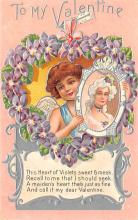 val200435 - Valentines Day Post Card Old Vintage Antique Postcard