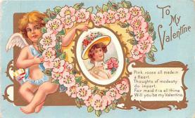 val200437 - Valentines Day Post Card Old Vintage Antique Postcard