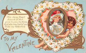 val200441 - Valentines Day Post Card Old Vintage Antique Postcard