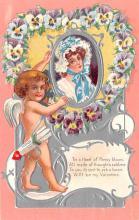 val200443 - Valentines Day Post Card Old Vintage Antique Postcard
