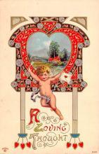 val200445 - Valentines Day Post Card Old Vintage Antique Postcard