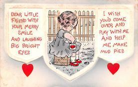 val200447 - Valentines Day Post Card Old Vintage Antique Postcard