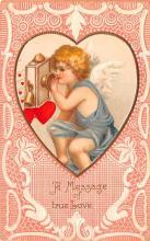 val200449 - Valentines Day Post Card Old Vintage Antique Postcard