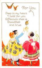 val200455 - Valentines Day Post Card Old Vintage Antique Postcard