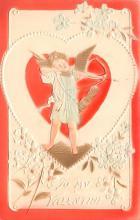 val200457 - Valentines Day Post Card Old Vintage Antique Postcard