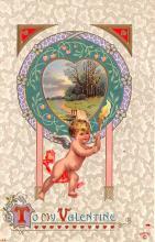 val200463 - Valentines Day Post Card Old Vintage Antique Postcard