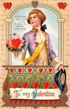 val200465 - Valentines Day Post Card Old Vintage Antique Postcard