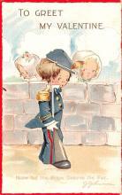 val200467 - Valentines Day Post Card Old Vintage Antique Postcard