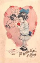 val200469 - Valentines Day Post Card Old Vintage Antique Postcard
