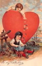 val200473 - Valentines Day Post Card Old Vintage Antique Postcard