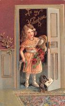 val200479 - Valentines Day Post Card Old Vintage Antique Postcard