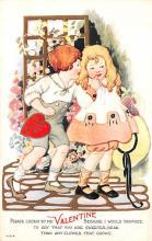 val200483 - Valentines Day Post Card Old Vintage Antique Postcard