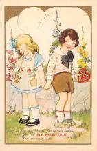 val200485 - Valentines Day Post Card Old Vintage Antique Postcard