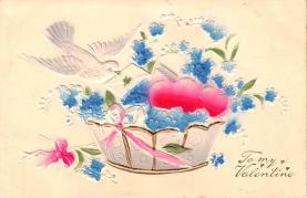 val200487 - Valentines Day Post Card Old Vintage Antique Postcard