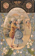 val200491 - Valentines Day Post Card Old Vintage Antique Postcard