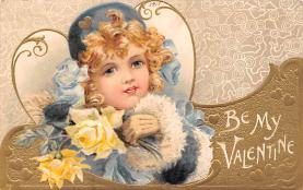 val200493 - Valentines Day Post Card Old Vintage Antique Postcard