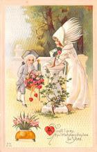 val200495 - Valentines Day Post Card Old Vintage Antique Postcard