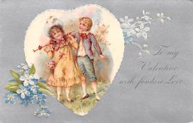 val200497 - Valentines Day Post Card Old Vintage Antique Postcard