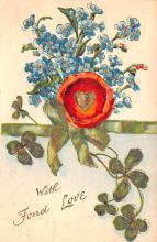 val200505 - Valentines Day Post Card Old Vintage Antique Postcard