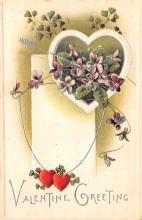val200517 - Valentines Day Post Card Old Vintage Antique Postcard