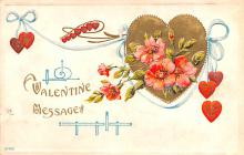 val200521 - Valentines Day Post Card Old Vintage Antique Postcard