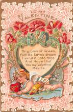 val200523 - Valentines Day Post Card Old Vintage Antique Postcard
