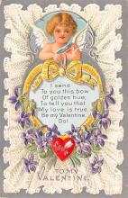 val200525 - Valentines Day Post Card Old Vintage Antique Postcard