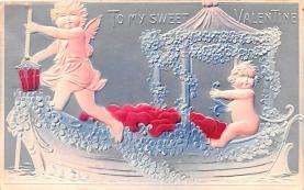 val200531 - Valentines Day Post Card Old Vintage Antique Postcard